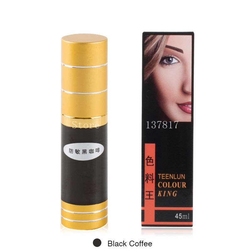 2Pcs 45ml/bottle Black coffee Vacuum Sterile Permanent Makeup Pigment Cosmetic Tattoo Ink For Eyebrows Eyeliner Tattoo Supply