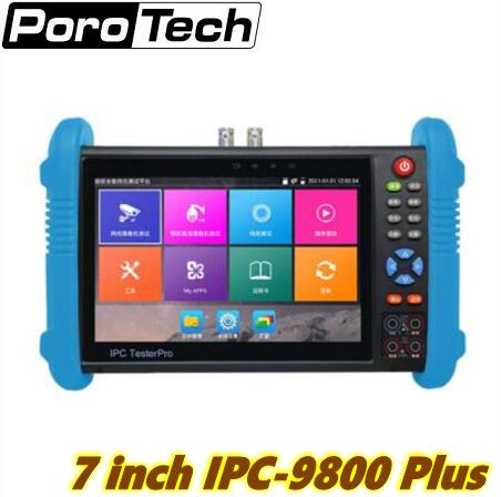 IP camera tester 7inch Handheld IPC AHD TVI CVI CCTV Tester IPC9800 Plus with H.265/H.264, 4K Video display multi functional 2017 new hot sale 7inch cctv tester for ipc 9800 movtadhs plus