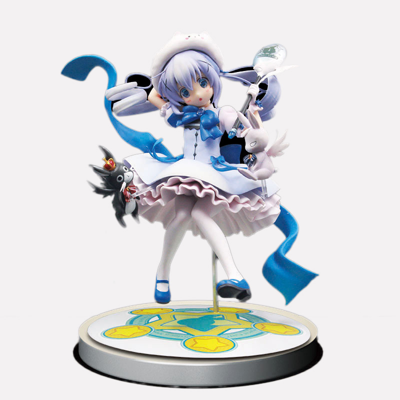 Anime Is the order a rabbit? Kafuu Chino Magical Girl Chino 1/7 Scale PVC Painted Figure Collectible Toy 21cm weir a the martian a novel