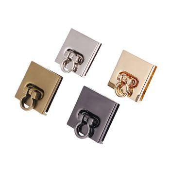 THINKTHENDO Metal Twist Lock Bag Case Clasp For Handbags Crossbody Shoulder Bag Purse Accessories DIY Craft twist lock detail pu shoulder bag