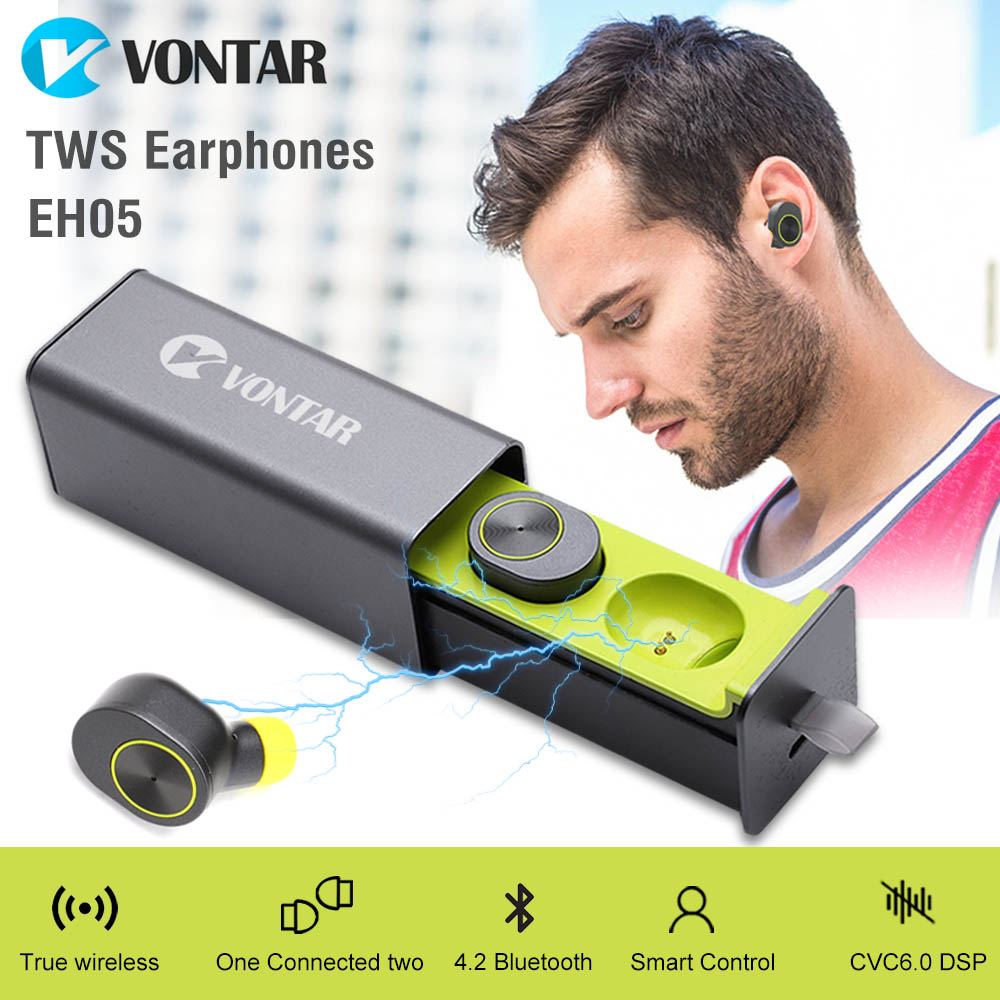 New Arrival EH05 Mini Portable Earbuds Earphone Bluetooth Wireless Headphones handsfree Headset With Microphone Charging Box