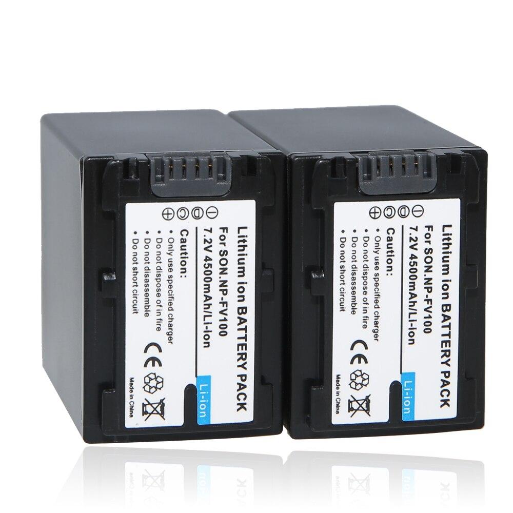 bilder für Np-fv100 akku np fv100 kamera batterien für sony fdr-ax100e ax100e hdr xr550e xr350e cx550e cx350e cx150e sr68e