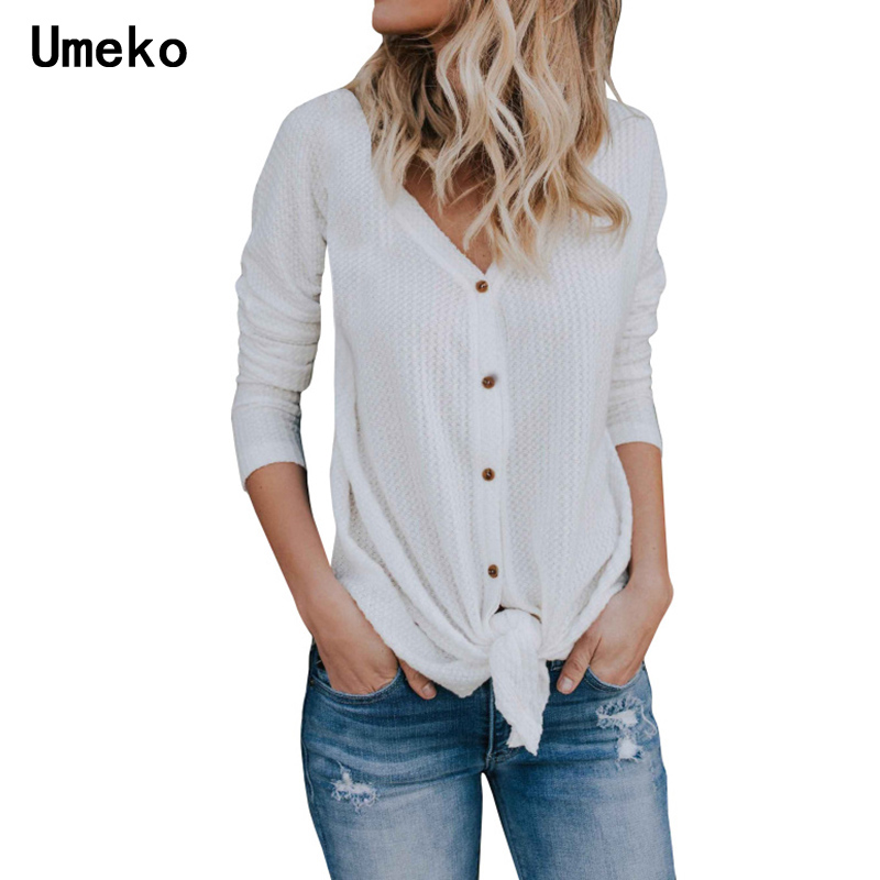 Women's Cardigan Sweaters Long Sleeve V-neck Plus Size Casual Elegant Fashion Buttons Loose Tied-up Feminina Spring Blusas