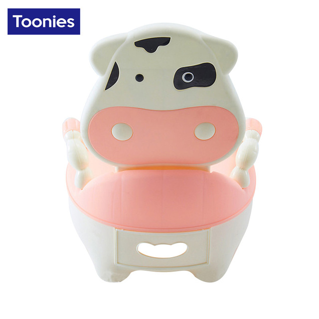 High Quality New Fashion Children Portable Potties Baby Unisex Lovely Cow Drawer Toilet Urinal Young Kids Cartoon Training Seat