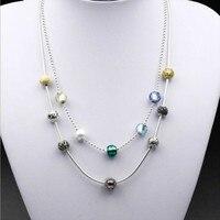925 Стерлинговое Серебро Европа и США новое ожерелье DIY ожерелье бусины с небольшим отверстием ожерелье не включает бусина