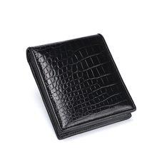 4e6d1a4dd00 Classique Simple Designer Véritable Crocodile Peau Du Ventre Hommes à deux  volets de courte Portefeuille porte