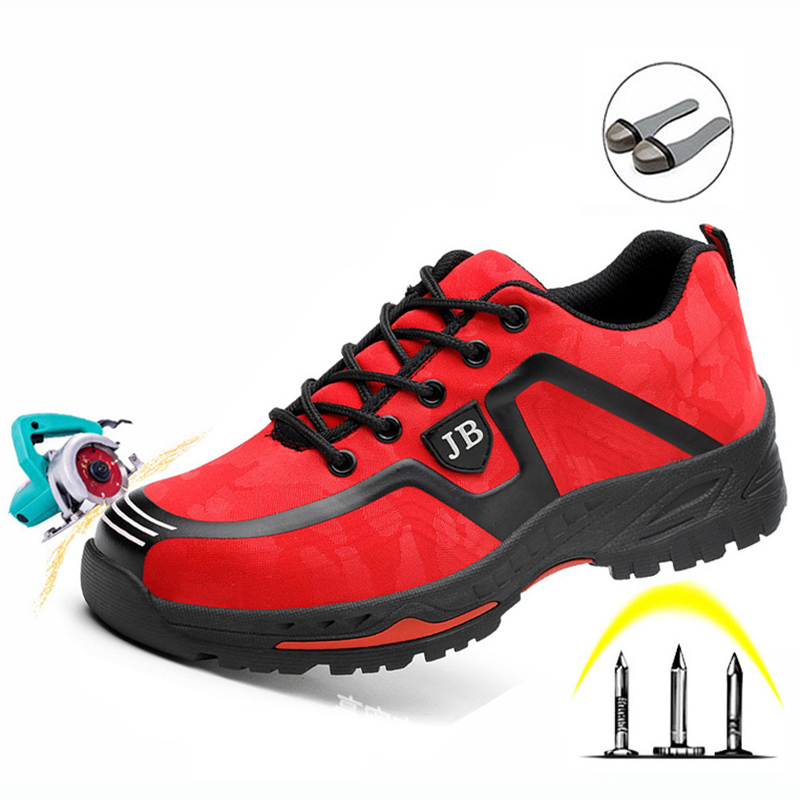 Labor Insurance Shoes Men Breathable Deodorant Safety Work Shoes Steel Toe Caps Anti smashing Anti piercing Site Shoes