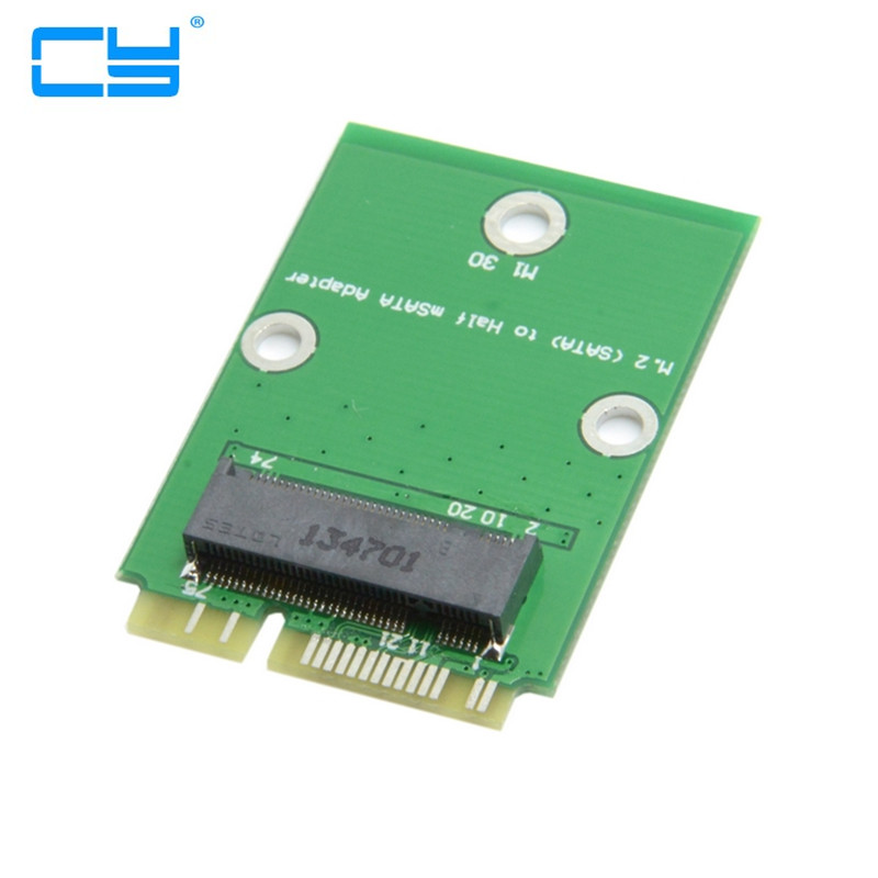 Mini pci express pcie PCI-E ngff ssd 2 Lane M.2 NGFF 30mm SSD to Half Height Low Profile pcie mSATA Adapter Add on Cards PCBA low profile msata mini pci e sata ssd to 2 5 ide 44pin adapter card
