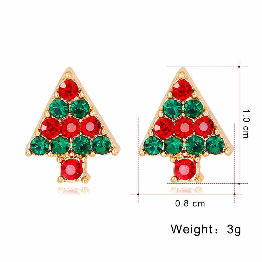 Модные украшения Рождественская елка женские серьги-гвоздики для девочек подарок на Новый год 1035 #1