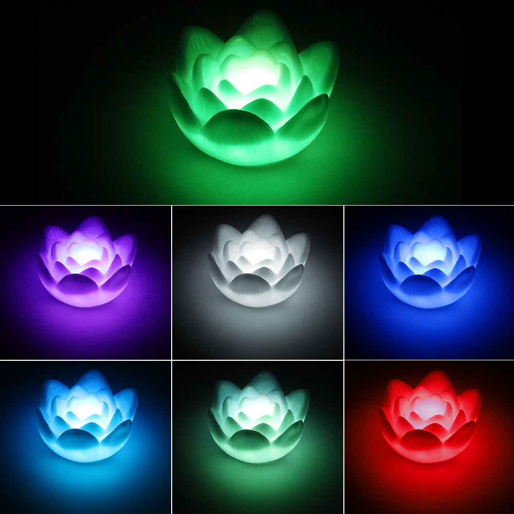 Flower Night Light Color Changing Lotus LED Night Light Nightlights Romantic Home Bedroom Decoration Hot Sale Novelty Lighting