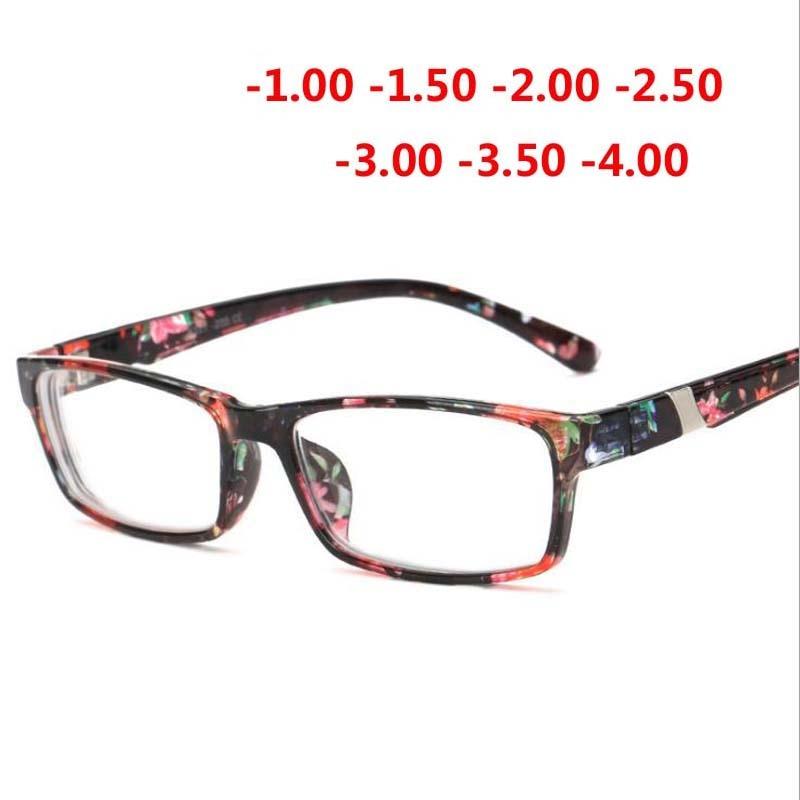 Cool New Fashion Women's Men's Finished Flower Legs Red Myopia Glasses Eyewear-100 -150 -200 -250 -300 -350 -400 6801