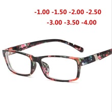 Cool New Fashion Womens Mens Finished Flower Legs Red Myopia Glasses Eyewear-100 -150 -200 -250 -300 -350 -400 6801
