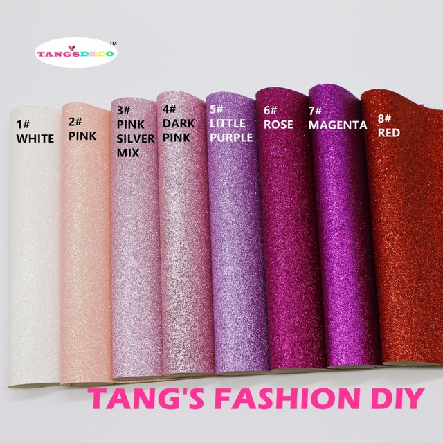 14 PCS/SET--20X22CM PER PCS DIY High Quality Glitter synthetic leather &Fabric /artificial leather 1