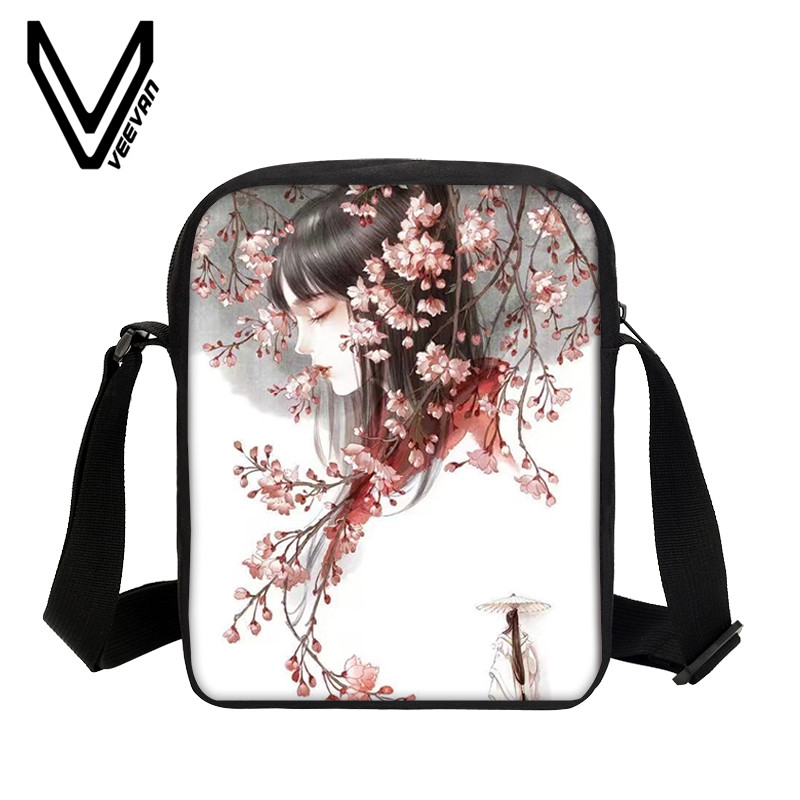 VEEVANV Anime Cartoon Printing Mini Purse Women Messenger Bags Girls Bookbag School Shoulder Bag Casual Children Crossboddy Bags