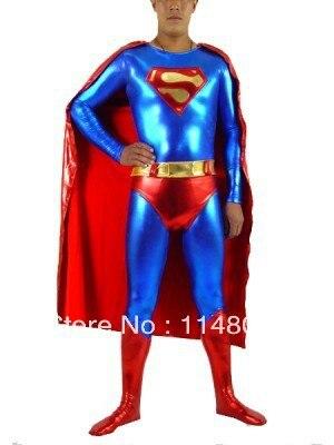 Superman Shiny Metallic Superhero Costumes