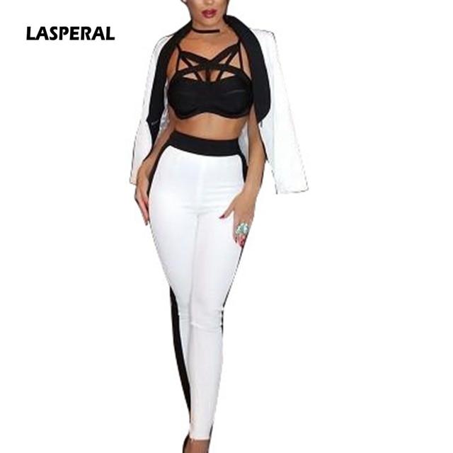 Lasperal 2017 Women Y Pants Suit Work Bussiness Formal Office Lady Suits Set