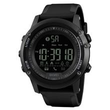 ساعة يد رياضية ذكية للرجال من SKMEI مزودة بتقنية البلوتوث وبها 5Bar مقاومة للماء ساعات يد رقمية عداد خطى وسعرات حرارية للياقة البدنية طراز reloj hombre 1321