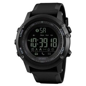 Image 1 - SKMEI Bluetooth גברים חכם ספורט שעון 5Bar עמיד למים גברים דיגיטלי שעוני יד מד צעדים קלוריות כושר reloj hombre 1321