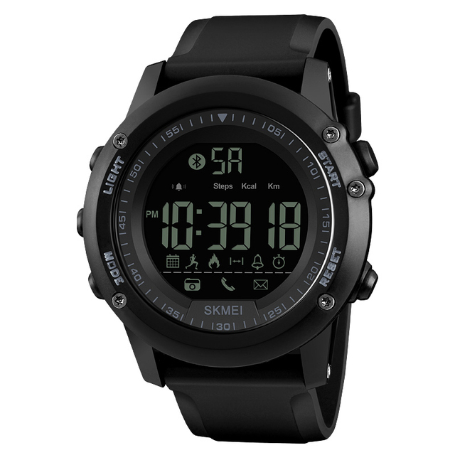 SKMEI Bluetooth גברים חכם ספורט שעון 5Bar עמיד למים גברים דיגיטלי שעוני יד מד צעדים קלוריות כושר reloj hombre 1321