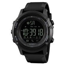 Skmei 블루투스 남자 스마트 스포츠 시계 5bar 방수 남자 디지털 손목 시계 보수계 칼로리 휘트니스 reloj hombre 1321