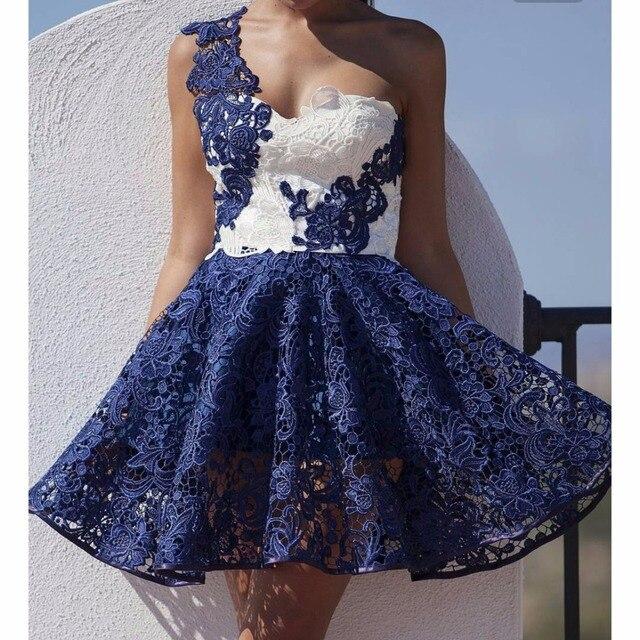 Vestido de renda curto branco barato