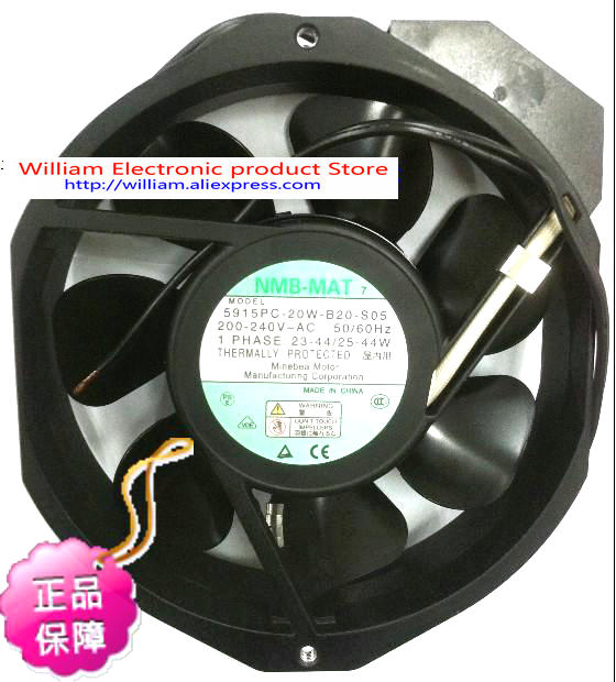 New Original US Praia NMB 5915PC-20W-B20 172*38MM AC220V 44W axial cooling fan high temperature resistance 200v nmb 5915pc 20w b20 metal frame cooling fan