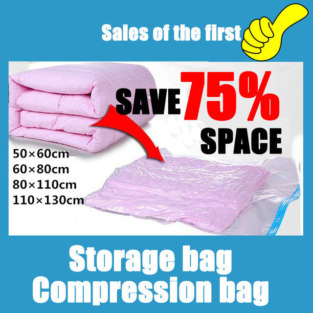 Super Big Size Space Saver Saving 80% Home Organizer Bust Proof Storage Bag  Seal Compressed
