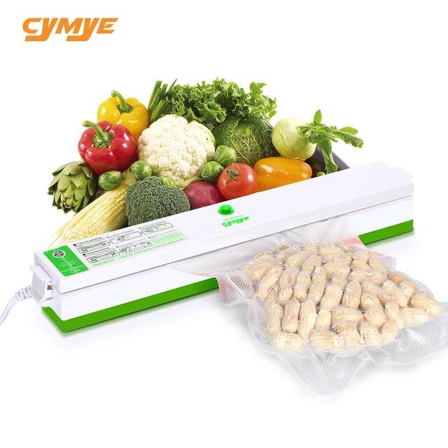Sellador al vacío de alimentos Cymye QH01 máquina de envasado 220V que incluye 15 Uds. Bolsa de vacío se puede utilizar para el ahorro de alimentos