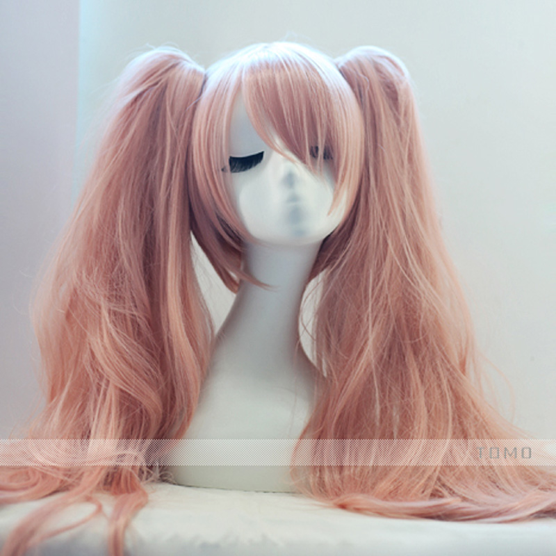 Anime Dangan Ronpa Enoshima Junko Wig Cosplay Costume Danganronpa Women Synthetic Hair Halloween Party Role Play Wigs+Hairnet