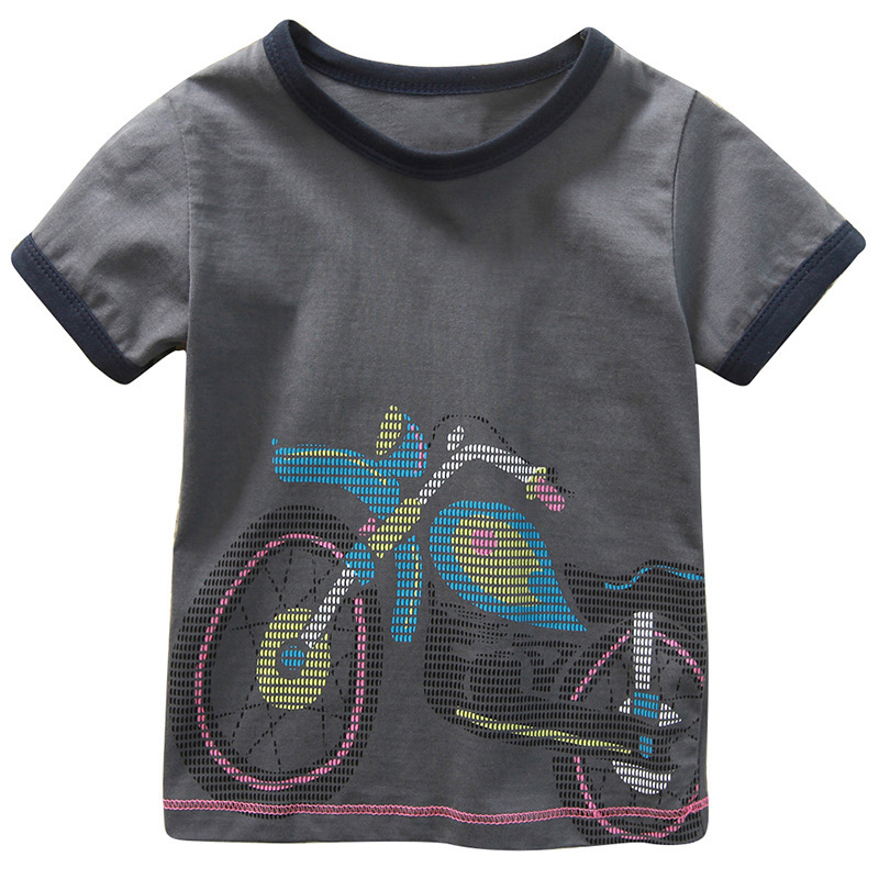 cf1ebe720 New Design 1Y 6Y Baby Boys Girls T Shirt Cartoon Car And Motorcycle ...