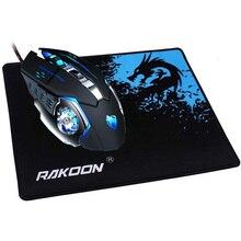 REEJOYAN RAKOON Gaming Maus Pad Locking Rand Premium Strukturierte Anti slip Maus Matte Gummi Mauspad für Gamer oder täglichen Gebrauch