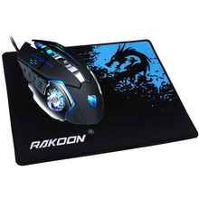REEJOYAN RAKOON 게이밍 Mouse Pad Locking Edge 프리미엄 Textured Anti slip 마우스 Mat 고무 마우스 패드에 대 한 Gamer 나 데일리 Use