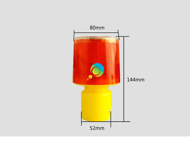 Limit Discounts Factory Price Yellow Road Barrier Warning Lamp Solar Powered LED Flashing Warning Light