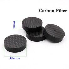 8 pçs de alta fidelidade áudio 40mm x 10mm brancd novo alto falante fibra carbono isolador pico almofada suporte nase amp cone alto falante almofada