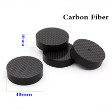 8pcs Hifi audio  40mmX10mm Brancd New carbon Fiber Speaker Isolator Spike pad stand nase  Amp cone speaker pad