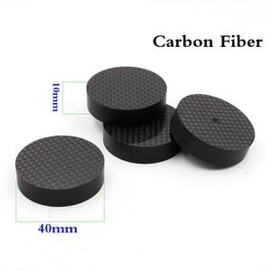 Image 1 - 8pcs Hifi audio  40mmX10mm Brancd New carbon Fiber Speaker Isolator Spike pad stand nase  Amp cone speaker pad