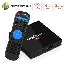 Leelbox Android 8.1 TV Box 4GB RAM 32GB ROM RK3328 Android Box Support 4k Ultra HD 3D 2.4GHz WiFi H.265 Decoding Bluetooth 4.1