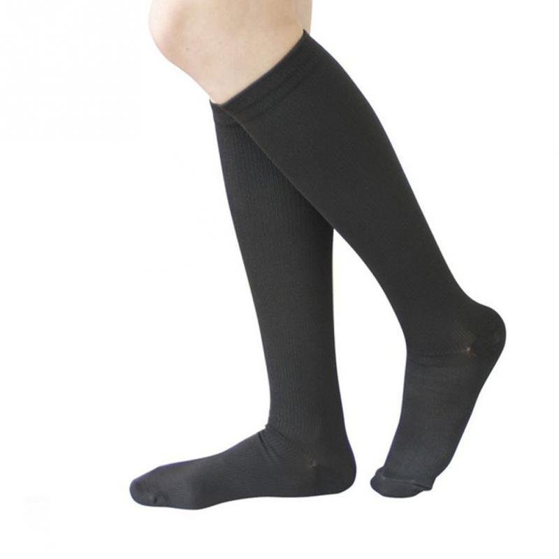 Unisex Compression Stockings Pressure Nylon Varicose Vein Stocking knee high Leg Support Stretch Pressure Circulation stock