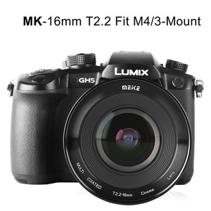 Image 4 - Meike MK 16 مللي متر T2.2 دليل التركيز شبه الكروي صورة Cine عدسة ل مايكرو أربعة ثلثي (MFT ، M4/3) جبل أوليمبوس باناسونيك