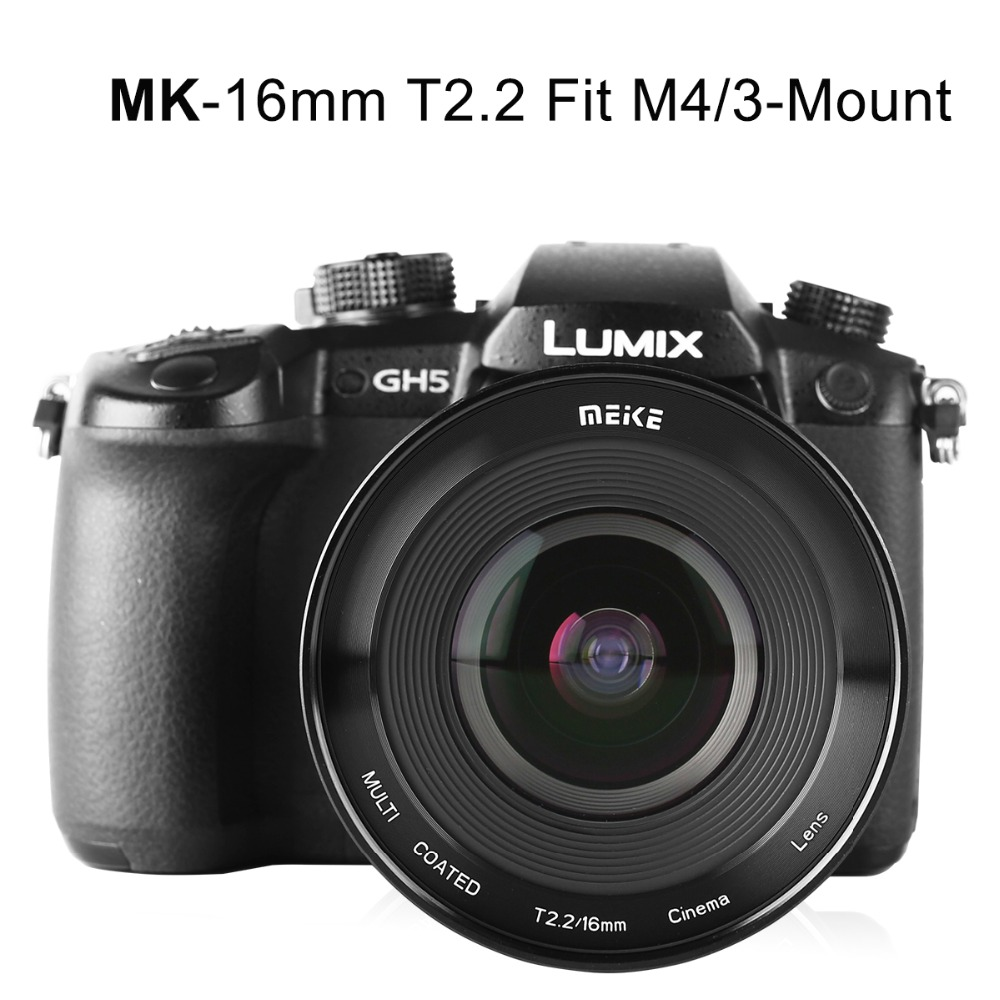 Image 4 - Meike MK 16mm T2.2 Manual Focus Aspherical Portrait Cine Lens for Micro Four Thirds (MFT, M4/3) Mount Olympus Panasonic-in Camcorder Lenses from Consumer Electronics