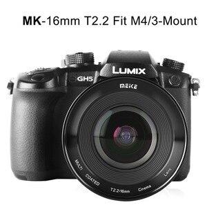 Image 4 - Meike MK 16mm T2.2 Manual Focus Aspherical Portrait Cine Lens for Micro Four Thirds (MFT, M4/3) Mount Olympus Panasonic