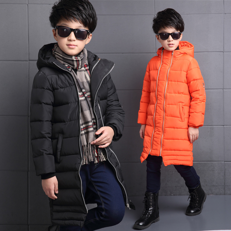 2016 Winter New Boys Thicken Warm X-Long Overcoat Boy Kids Zipper Cotton-Padded Boys Parkas Children Clothes Thermal Cold-proof new winter 2015 women cotton padded clothes draw string of cultivate one s morality show thin fashionable