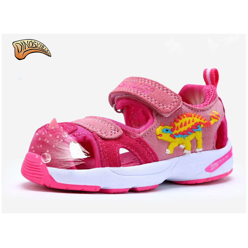 Dinoskulls 2017 Summer Beach Kids Shoes Breathable Sandals For Boys And Girls Designer Toddler Sandals 3D Dinosaur Sandals