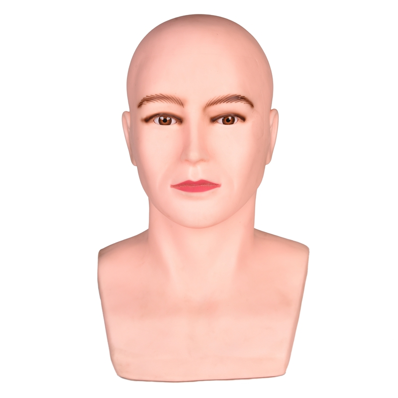 Tête de Mannequin homme tête de Mannequin professionnelle tête d'entraînement de 20 pouces avec pince de Table pour la fabrication de perruque
