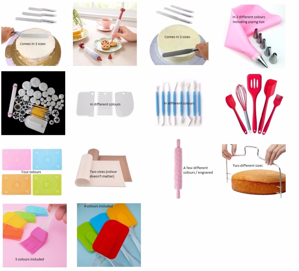 Delidge Variety Of Style Cake Tools For VIP  Mischa Fabian Dropshipping