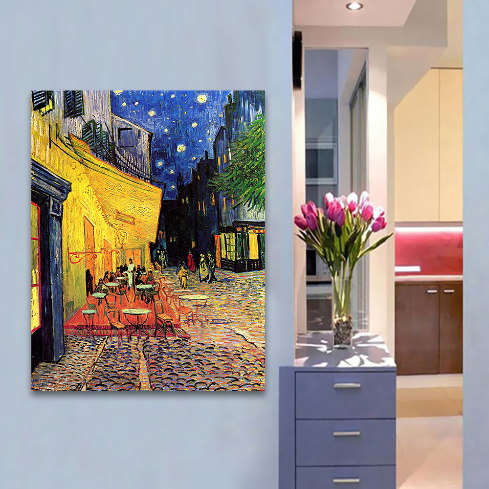 HDARTISAN Canvas Art Wall Pictures For Living Room Vincent Van Gogh Café Terrace At ight Pintura Moderna Decoración Del Hogar Impreso