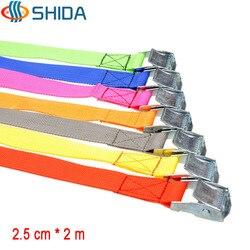 5 stücke 2,5 cm * 2 Meter Metall Ladungauspeitschung Polypropylen Gurtband, halten Ratsche Binden mit Schnalle Winde Strap