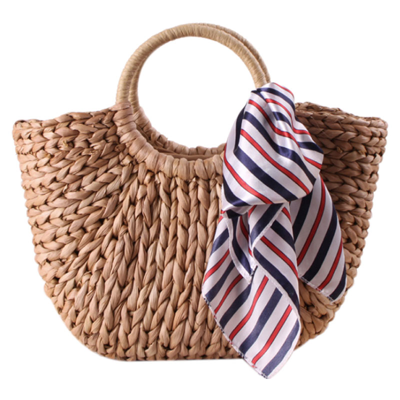 Fashion Womens Straw Hand Bag Large Shoulder Tote Bag Bucket Summer Bags Women Tassel Rattan Bag Braided(primary color)With s ...