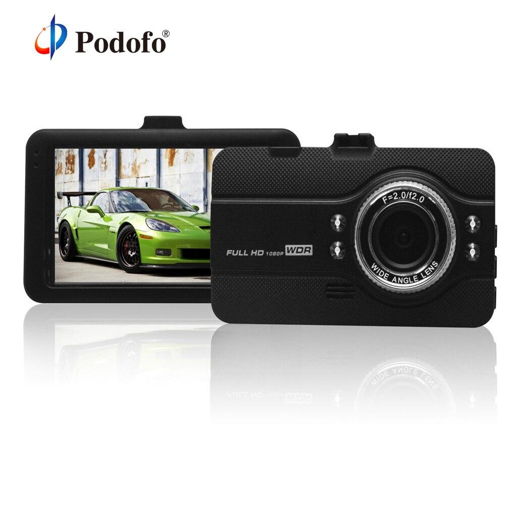 Podofo Car Camera DVRs Dashcam FH07 Video Recorder Registrator Full HD 1080P WDR G-Sensor Night Vision Dash Cam Dvr Car blackbox