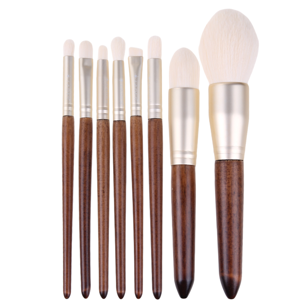 8Pcs/Lot Plants Fiber Makeup Brushes Face Foundation Powder Blush Contour Eye Shadow Eyebrow Eyeliner Brush Set Cosmetic Tools